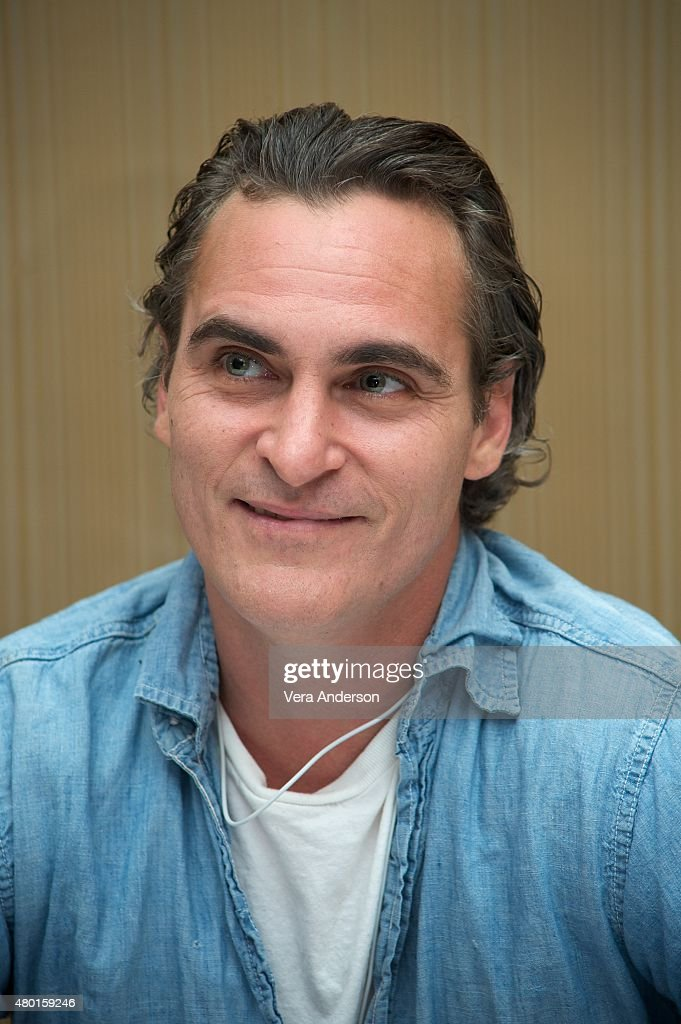 <a gi-track='captionPersonalityLinkClicked' href=/galleries/search?phrase=Joaquin+Phoenix&family=editorial&specificpeople=215391 ng-click='$event.stopPropagation()'>Joaquin Phoenix</a> at the 'Irrational Man' Press Conference at the Regent Beverly Wilshire Hotel on July 8, 2015 in Beverly Hills, California.