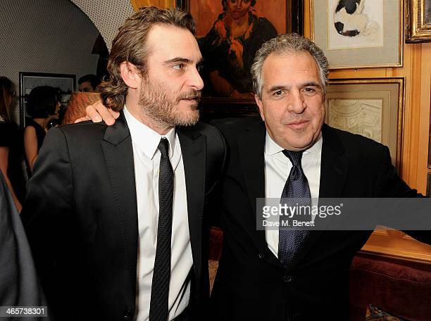 Joaquin Phoenix attends the Charles Finch and Chanel PreBAFTA cocktail party and dinner at Annabel's on February 8 2013 in London England