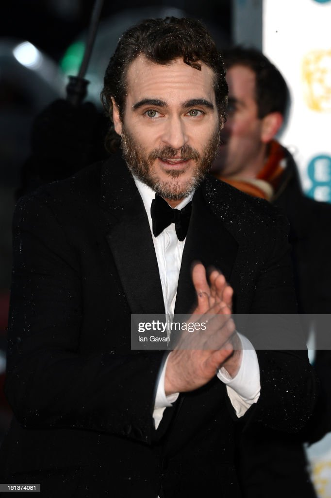 Joaquin Phoenix attends the EE British Academy Film Awards at The Royal Opera House on February 10, 2013 in London, England.