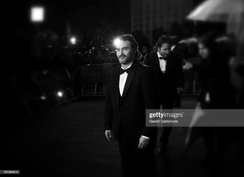 <a gi-track='captionPersonalityLinkClicked' href=/galleries/search?phrase=Joaquin+Phoenix&family=editorial&specificpeople=215391 ng-click='$event.stopPropagation()'>Joaquin Phoenix</a> attends the EE British Academy Film Awards at The Royal Opera House on February 10, 2013 in London, England.