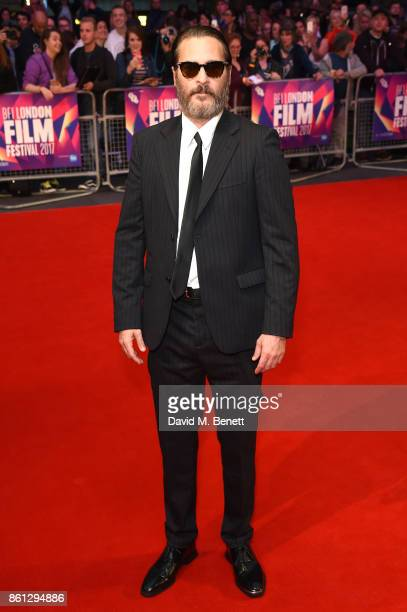 Joaquin Phoenix attends the Headline Gala Screening UK Premiere of 'You Were Never Really Here' during the 61st BFI London Film Festival on October...