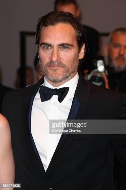 Joaquin Phoenix attends the 'You Were Never Really Here' screening during the 70th annual Cannes Film Festival at Palais des Festivals on May 27 2017...