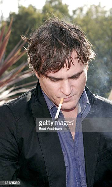 Joaquin Phoenix during Joaquin Phoenix and Manuel Cuevas Luncheon to Celebrate 'Walk the Line' at House of Flaunt in Hollywood California United...