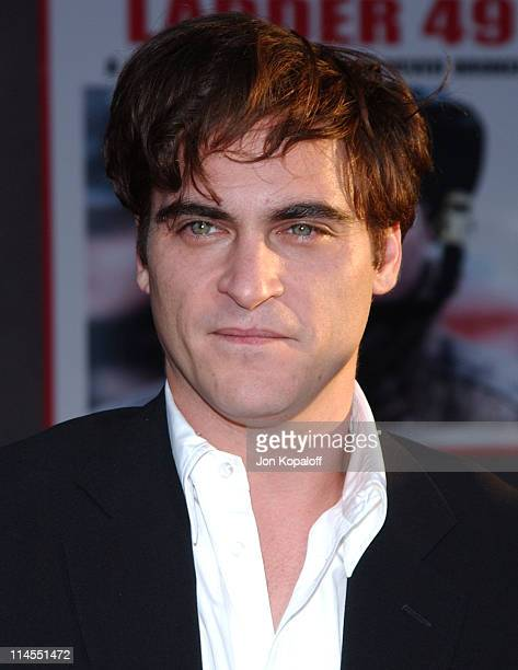 Joaquin Phoenix during 'Ladder 49' Los Angeles Premiere Arrivals at El Capitan in Hollywood California United States