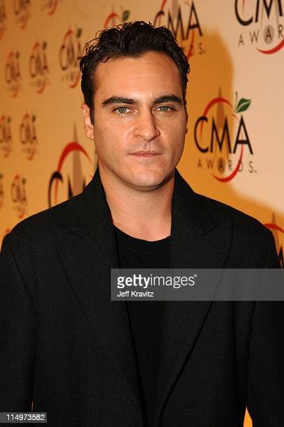 Joaquin Phoenix during The 39th Annual CMA Awards Red Carpet at Madison Square Garden in New York City New York United States
