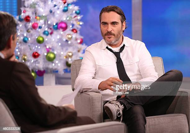AMERICA Joaquin Phoenix is a guest on 'Good Morning America' 12/9/14 airing on the ABC Television Network