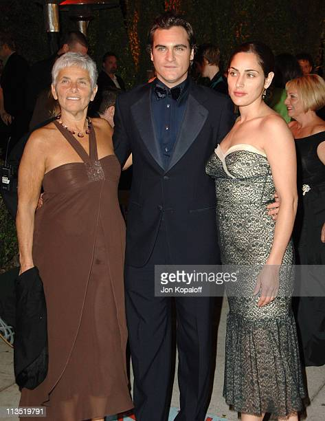 Joaquin Phoenix with mother Heart Phoenix and sister Summer Phoenix