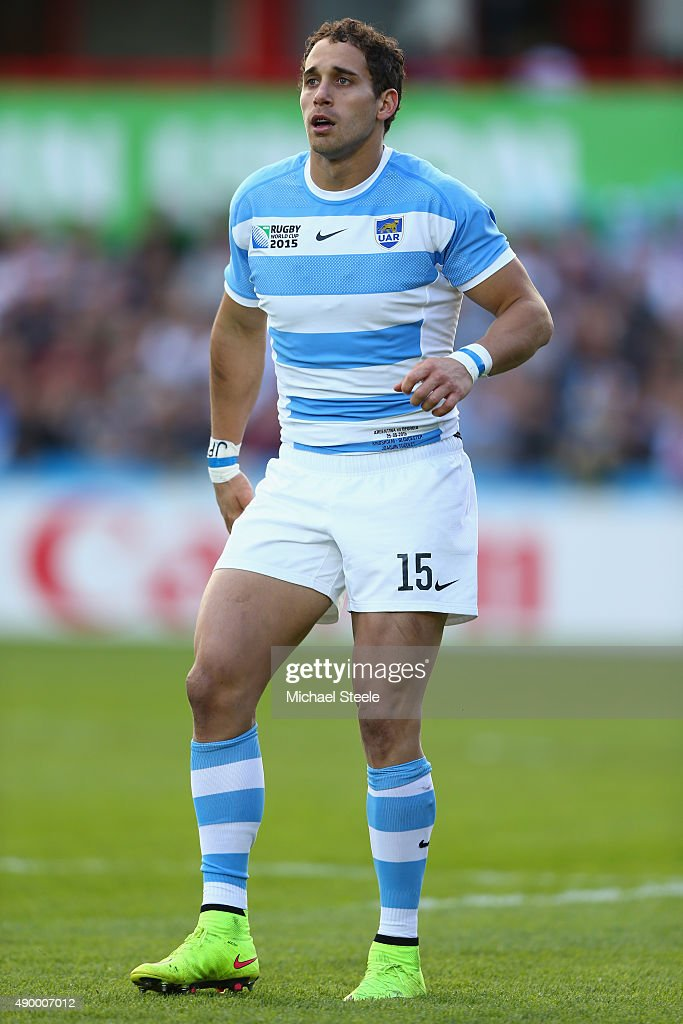 Joaquin Tuculet of Argentina during the 2015 Rugby World Cup Pool C match between Argentina and Georgia at Kingsholm Stadium on September 25, 2015 in Gloucester, United Kingdom.