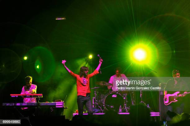 Joaquin Vitola of the band Indios performs during a show as part of the music festival De Vos a Voz at Carpa Astros on June 11 2017 in Mexico City...