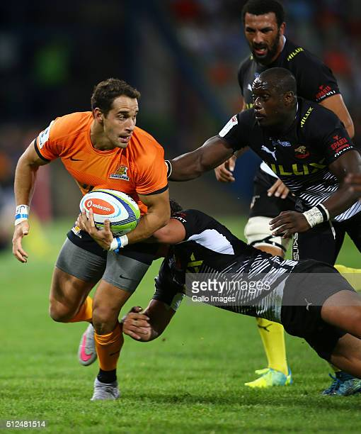 Joaqun Tuculet of the Jaguares during the 2016 Super Rugby match between Toyota Cheetahs and Jaguares at Toyota Stadium on February 26 2016 in...