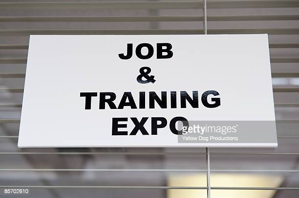 'Job and Training Expo'  Sign