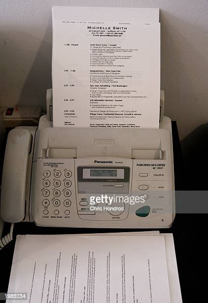 A job applicant's resume sits in a fax machine at an office May 7 2003 in New York City The nation's jobless rate climbed to six percent in April...