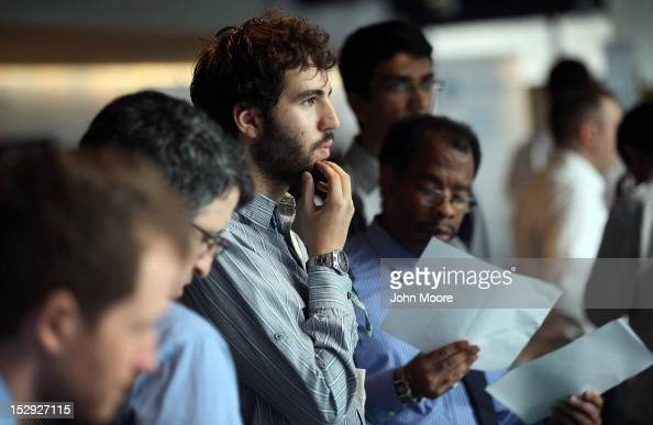 Job applicants wait to meet potential employers at the NYC Startup Job Fair held at 7 World Trade Center on September 28 2012 in New York City More...