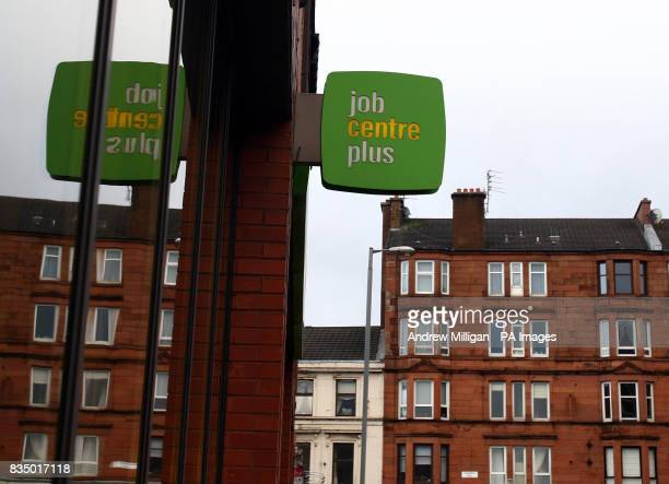 A Job centre in Partick Glasgow as the number of people out of work in Scotland has risen by 13 figures revealed today