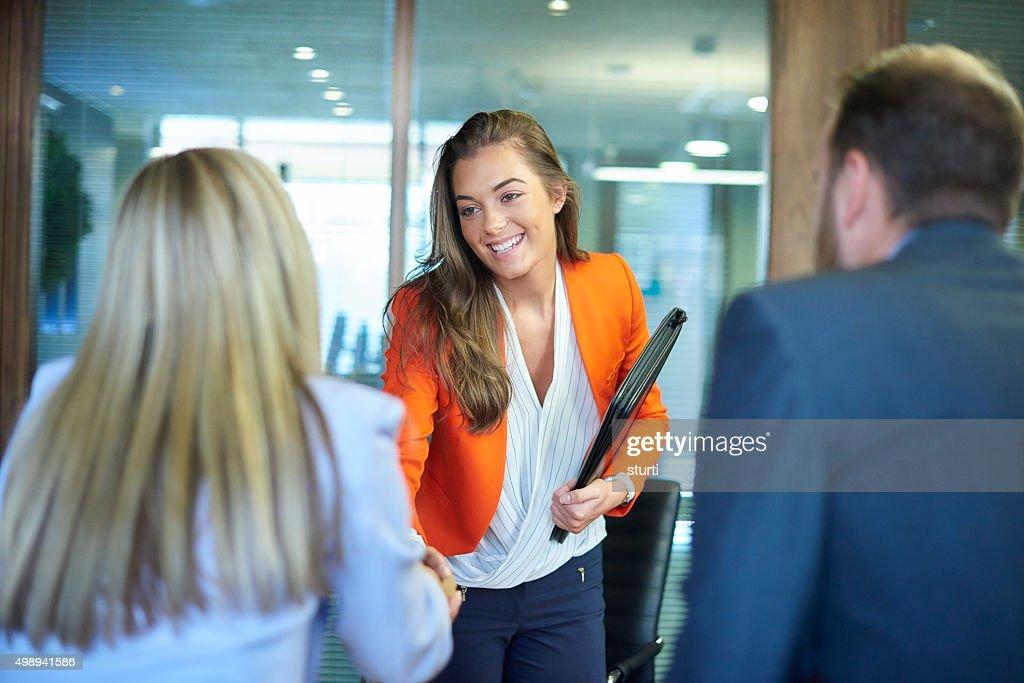 job interview first impressions : Stock-Foto