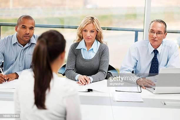 Job interview Gruppe von Geschäftsleuten, die ein meeting