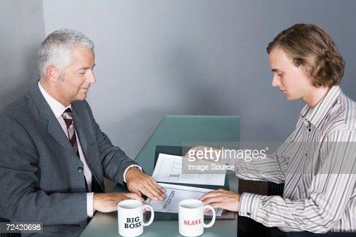 Job interview : Bildbanksbilder