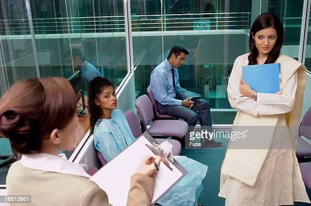 Job Interviews at Office