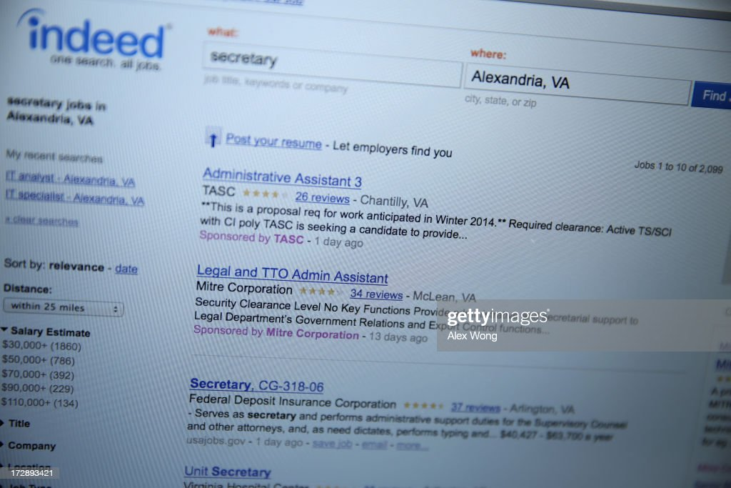 A job listing is seen on the website of Indeed.com July 5, 2013. The Labor Department reported that U.S. economy has added 195,000 jobs in June with the unemployment rate remained unchanged at 7.6 percent.