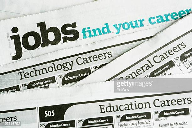 Job Search and Employment, Occupation Opportunity Classified Ad Newspaper Page