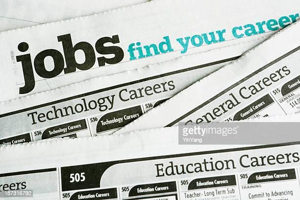 Job-Suche und Beschäftigung und Beruf Gelegenheit Kleinanzeige Tageszeitung (zur Seite