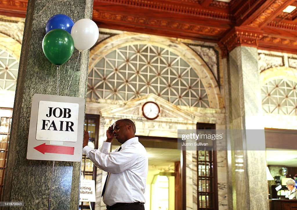 A job seeker fills out a registration form as he waits to enter the San Francisco Hirevent job fair at the Hotel Whitcomb on March 27, 2012 in San Francisco, California. As the national unemployment rate stands at 8.3 percent, job seekers turned out to meet with recruiters at the San Francisco Hirevent job fair where hundreds of jobs were available.