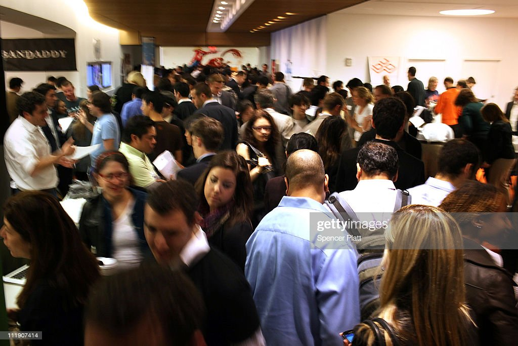 Job seekers attend the New York City Startup Job Fair on April 8, 2011 in New York City. Over 700 people attended the job fair, which featured 40 New York-based start-up companies. As the American economy continues to pick up speed the unemployment rate has fallen from 9.8 percent to 8.8 percent.