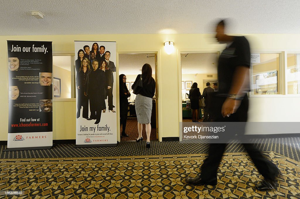 Job seekers attend the Professional and Executive Diversity Job Fair at a Embassy Suites hotel on November 13, 2012 in Los Angeles, California. According to reports, if Congress does not take action nearly 2 million unemployed workers are scheduled to lose their unemployment benefits at the end of 2012.