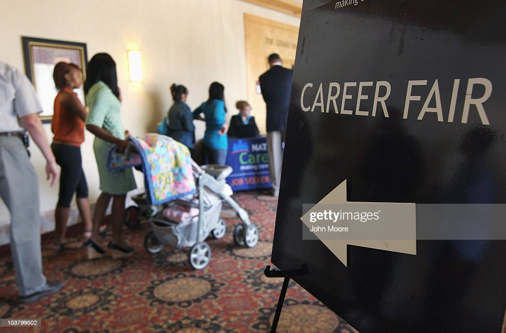 Job seekers wait in line for a career fair to open on September 2, 2010 in Denver, Colorado. Hundreds of unemployed and underemployed Coloradans turned out for the event. The federal government will announce its monthly national unemployment figures on Friday.