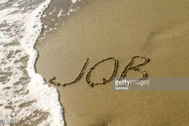 Emploi mot sur la plage