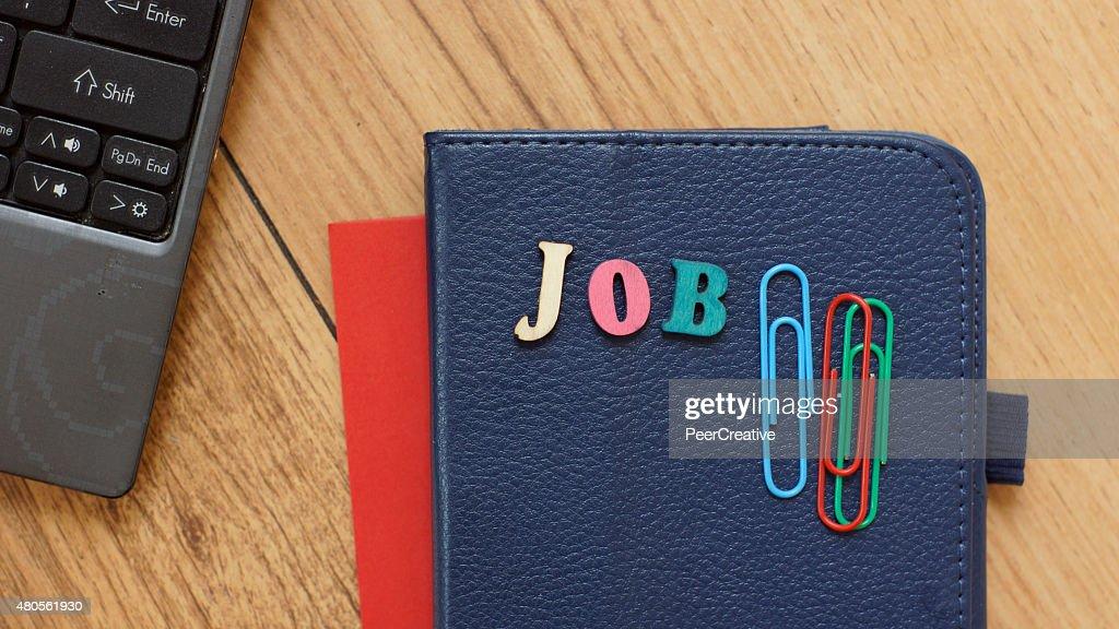 Job written : Stock Photo