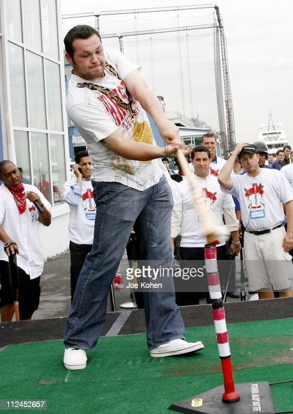 Joba Chamberlain attends the 'Homers on The Hudson' contest at the Chelsea Lighthouse at Pier 61 on July 14 2008 in New York City