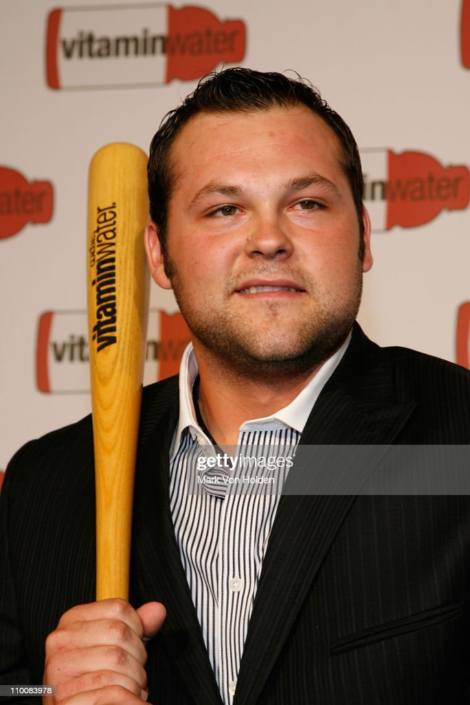 Joba Chamberlain attends the Vitaminwater Celebrates in Style with The Best of Baseball and Music at Hudson Terrace on July 14 2008 in New York City