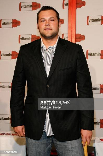 Joba Chamberlain attends Vitaminwater Celebrates in Style with The Best of Baseball and Music at Hudson Terrace on July 14 2008 in New York City