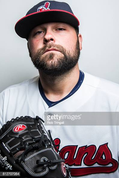 Joba Chamberlain of the Cleveland Indians poses for a portrait during photo day at the Cleveland Indians Development Complex on February 27 2016 in...