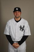 Joba Chamberlain of the New York Yankees poses during Photo Day on Thursday February 25 2010 at Steinbrenner Field in Tampa Florida