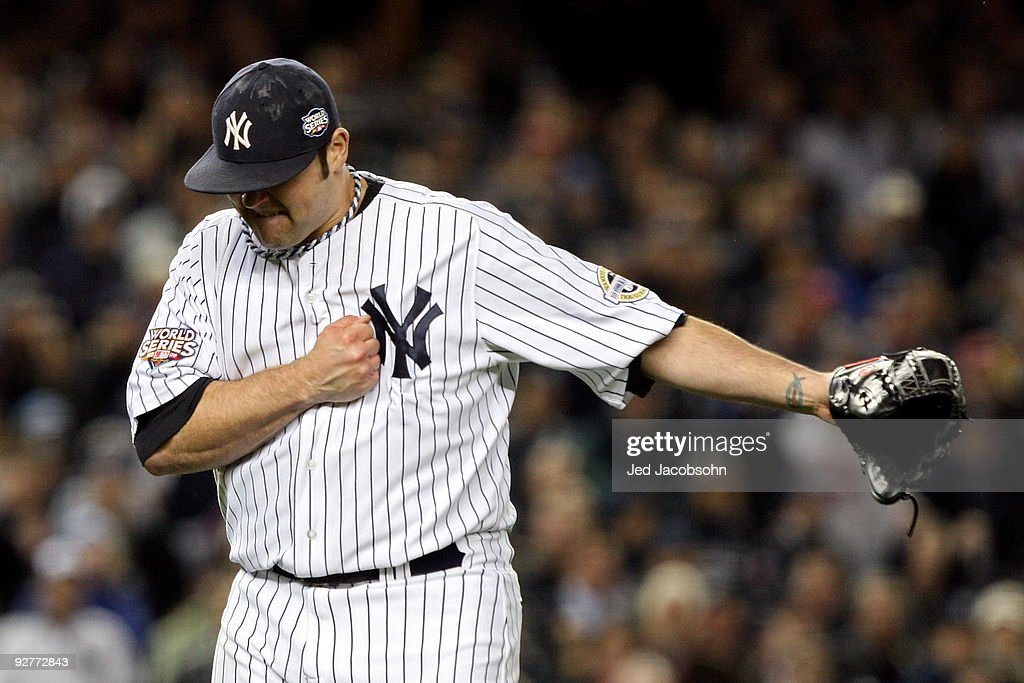 <a gi-track='captionPersonalityLinkClicked' href=/galleries/search?phrase=Joba+Chamberlain&family=editorial&specificpeople=4391682 ng-click='$event.stopPropagation()'>Joba Chamberlain</a> #62 of the New York Yankees reacts after he recorded the final out of the top of the sixth inning against the Philadelphia Phillies in Game Six of the 2009 MLB World Series at Yankee Stadium on November 4, 2009 in the Bronx borough of New York City.
