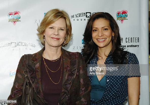 JoBeth Williamds and Constance Marie during The Screen Actors Guild and Zimand Entertainment Host PrizeWinning Ceremony for LA Children's Love Equals...