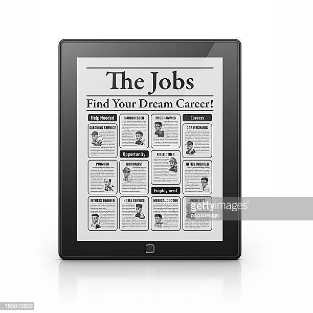 jobs newspaper in tablet