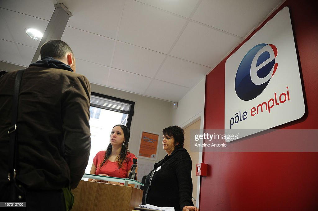 A jobseeker arrives for an interview at a Pole Emploi unemployment office on April 24, 2013 in Vincennes, France. French unemployment keeps rising and the number of unemployed people could reach a new historical record in May 2013.