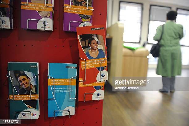 A jobseeker waits for an interview at a Pole Emploi unemployment office on April 24 2013 in Vincennes France French unemployment keeps rising and the...