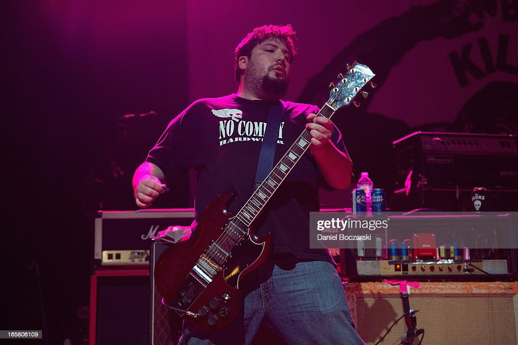 Joby J. Ford of The Bronx during their performance on stage as a supporting act for Bad Religion at Congress Theater on April 5, 2013 in Chicago, Illinois.