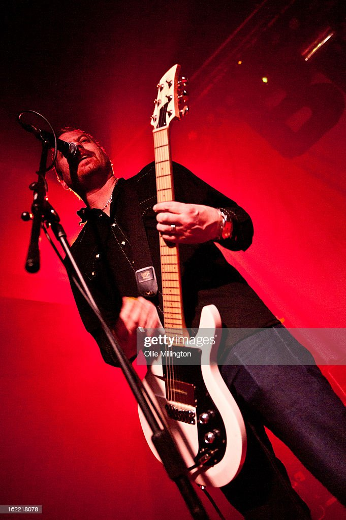 Joby J. Ford of The Bronx performs on stage during the band's February 2013 UK tour at Rescue Rooms on February 20, 2013 in Nottingham, England.