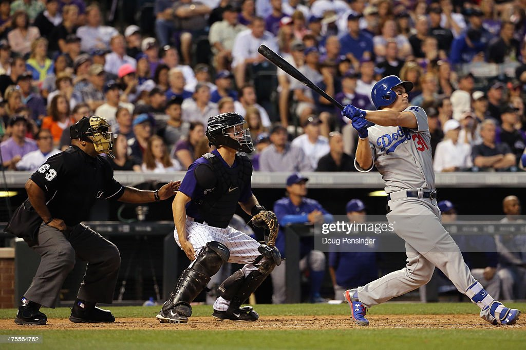 Los Angeles Dodgers v Colorado Rockies