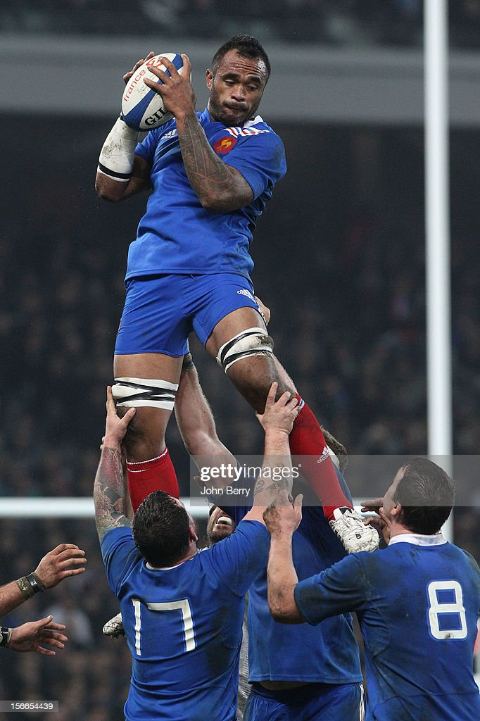 Jocelino Suta of France in action during the rugby autumn international between France and Argentina (39-22) at the Grand Stade Lille Metropole on November 17, 2012 in Lille, France.