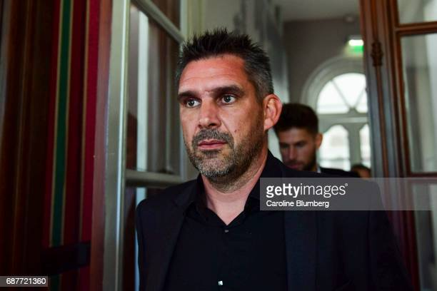 Jocelyn Gourvennec headcoach of Bordeaux during press conference of new signing player Benoit Costil on May 24 2017 in Bordeaux France
