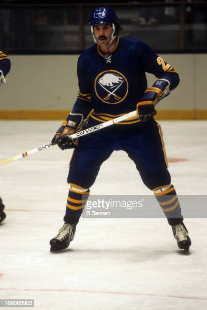 Jocelyn Guevremont of the Buffalo Sabres skates on the ice during an NHL game circa 1978