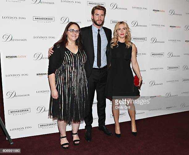Jocelyn Moorhouse Liam Hemsworth and Kate Winslet attend as London Fog presents a New York special screening of 'The Dressmaker' on September 16 2016...