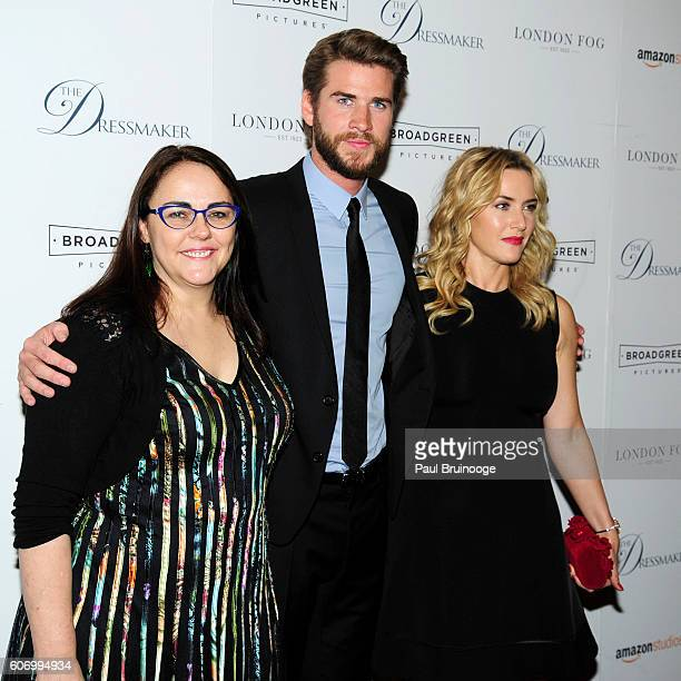 Jocelyn Moorhouse Liam Hemsworth and Kate Winslet attend the London Fog Presents a New York Special Screening of 'The Dressmaker' at Florence Gould...