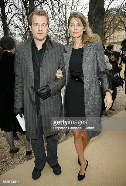 Jocelyn Quivrin and Alice Taglioni at the Christian Dior Fall/Winter 20072008 collection during Paris Fashion Week